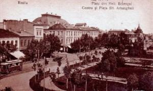 """Piaţa Sf. Arhangheli şi Teatrul ,,Maria Filoti"""" din Brăila"""