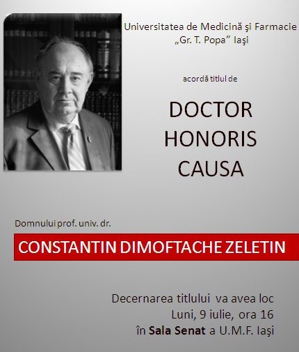 CD Zeletin doctor honoris causa