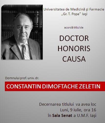 CD Zeletin doctor honoris causa