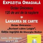 OCTAV ONICESCU - 120 DE ANI DE LA NAȘTERE