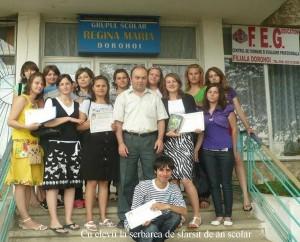 Cu elevii la serbarea de sfarsit de an scolar
