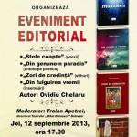 """La Teatrul de Stat ,,Mihai Eminescu"""": Ovidiu Chelaru lansează patru cărți"""