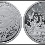 150 DE ANI DE LA DEBUTUL LITERAR A LUI MIHAI EMINESCU - MONEDĂ JUBILIARĂ