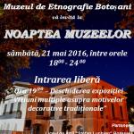 Botoşani. Noaptea Muzeelor, ediţia 2016