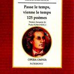 MIHAI  EMINESCU: Passe le temps, vienne le temps !   Version française de Paula ROMANESCU