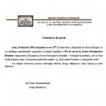 Manifestări organizate de Muzeul Județean Botoșani cu prilejul împlinirii a 153 de ani de la Unirea Principatelor Române