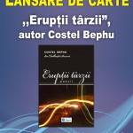 Lansare de carte - ,,Erupţii târzii