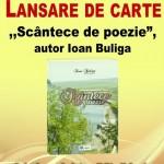 """INVITAȚIE - LANSAREA CĂRȚII ,,SCÂNTECE DE POEZIE"""""""