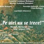 """""""Pe aici nu se trece! Mărăşti, Mărăşeşti, Oituz. Iulie – august 1917"""", Simpozion"""