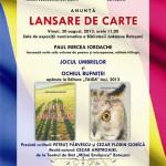 Dublă lansare de carte: Paul Mircea IORDACHE. Invitație