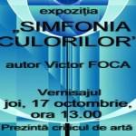 """Simfonia culorilor"" - Victor Foca, la Centrul Cultural Intercomunitar"