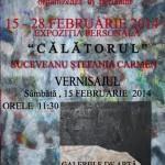 """Expoziţie personală ,,Călătorul""""  - artist plastic, Carmen Ştefania Suceveanu, din 15 februarie 2014 la Galeriile de Artă ,,Ştefan Luchian"""""""