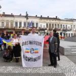 Centrul Istoric al Botoșanilor acoperit de Tricolorul Românesc, de dorul Basarabiei