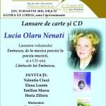 """Pro EMINESCU. Lucia OLARU-NENATI, în IAȘUL cultural – Primăvara cărților: ,,Eminescu, de la muzica poeziei la poezia muzicii"""" și ,,Cântecele lui Eminescu"""""""