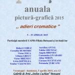 """Anuala de pictură şi grafică 2015  - Adieri cromatice - la Galeriilor de Artă ,,Ştefan Luchian"""" Botoşani"""