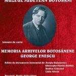 ,,Memoria arhivelor botoșănene: George Enescu''