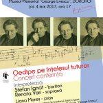 """Mergeți înspre Dorohoi! Concertul-conferinţă """"Oedipe pe înţelesul tuturor"""""""