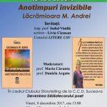 La Suceava, 8 dec. 2017. Lansarea cărții Lăcrămioarei Andrei: Anotimpuri invizibile