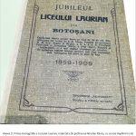 """Istoria bibliotecilor Liceului ,,Laurian"""" din Botoşani 1859 – 1932. IV. 1. Jubileul Liceului ,,Laurian"""" la împlinirea celor 50 de ani de existență (1909)"""