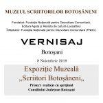 "Vernisajul Expoziției Muzeale ,,Scriitori Botoșăneni"""