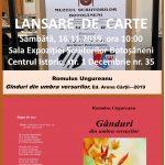 """Romulus Ungureanu, la a treia carte. Lansare la Expoziția ,,Scriitorilor Botoșăneni"""""""