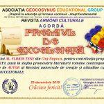 Scriitorul Al. Florin Țene a primit PREMIUL DE EXCELENȚĂ din partea Asociației Geocosinus Group