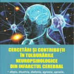 O nouă carte a acad.prof.univ.dr. Ștefania Kory Calomfirescu.  CERCETĂRI ȘI CONTRIBUȚII ÎN TULBURĂRILE NEUROPSIHOLOGICE DIN INFARCTUL CEREBRAL