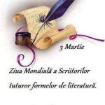 La Mulți Ani! 3 Martie - Ziua Mondială a Scriitorilor (felicitare de la Silvia Miler
